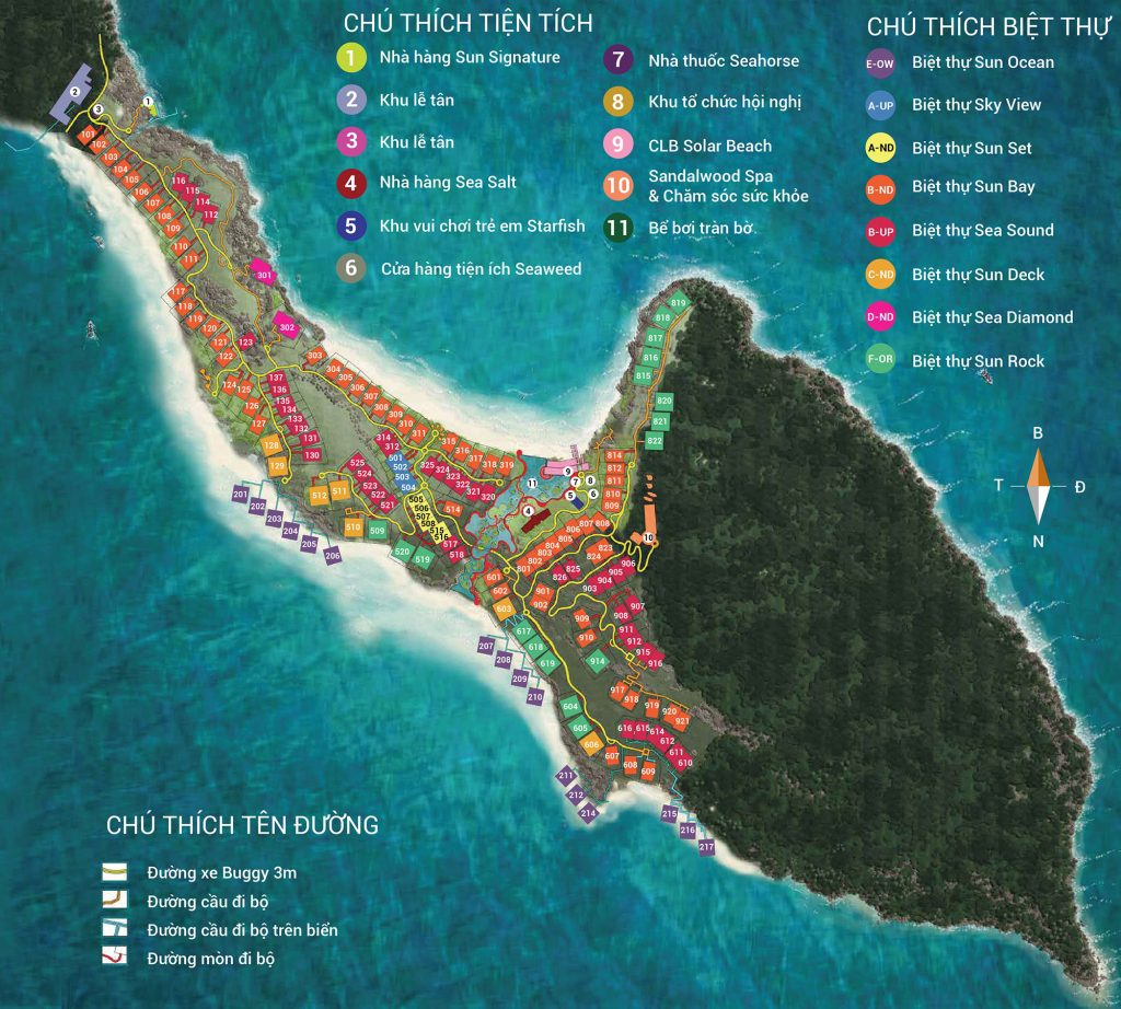 Mặt bằng dự án Premier Village Phú Quốc Resort