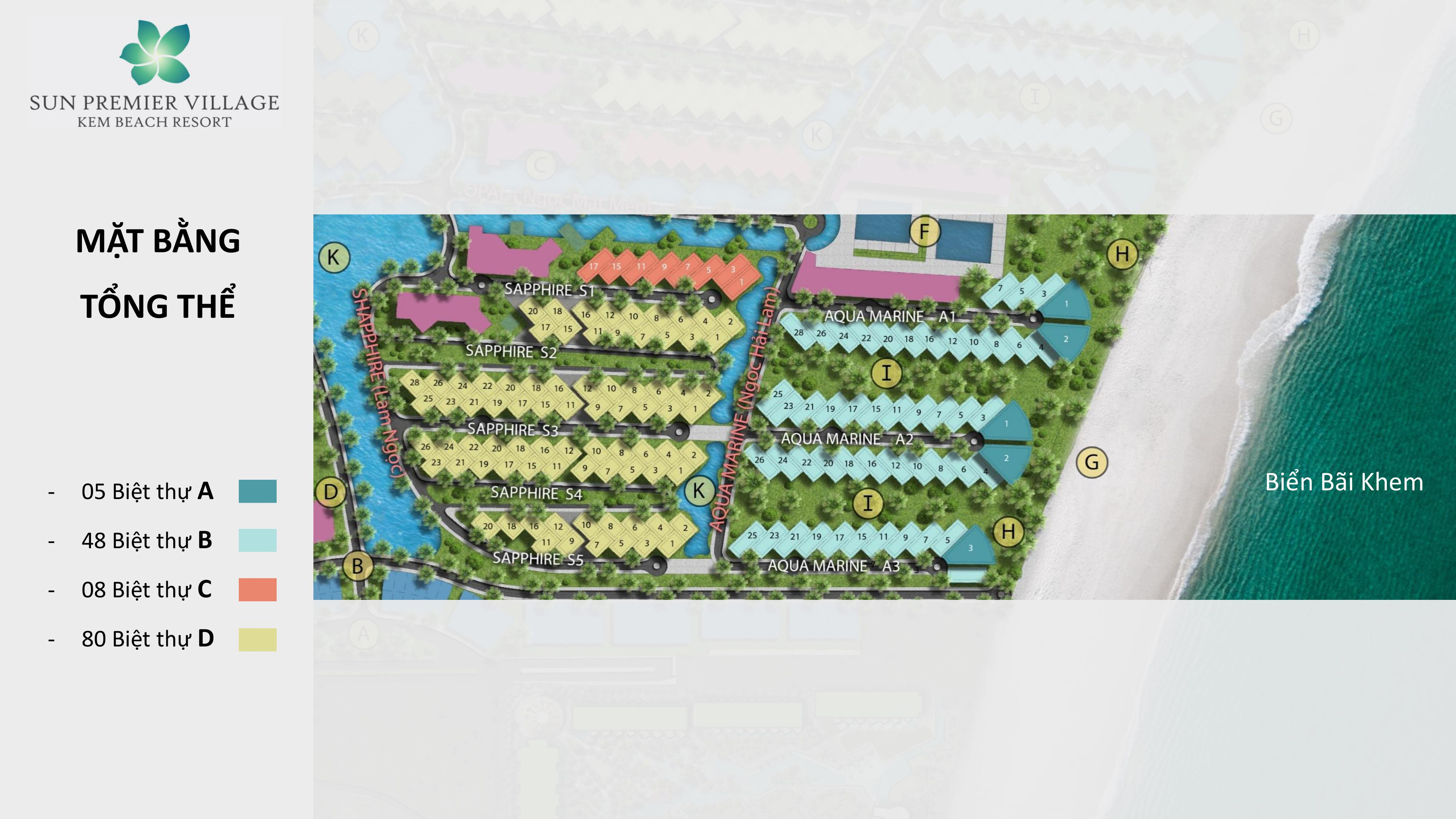 Mặt bằng tổng thế Sun Premier Village Kem Beach Resort
