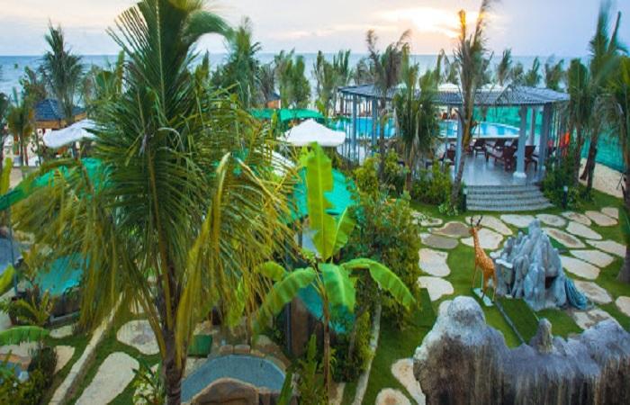 Không gian giáp biển Galina Mud Bath & Spa Phú Quốc