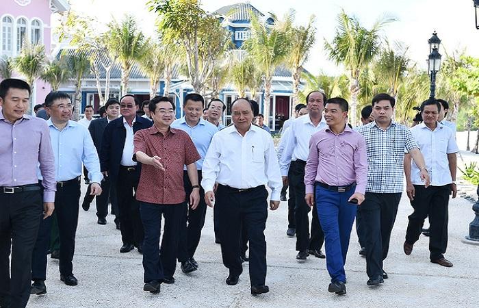 Thủ tướng cùng đoàn Công tác đến làm việc tại Kiên Giang